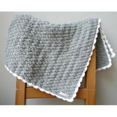Handmade knitted woolen baby blanket made by @Swirl Twolands