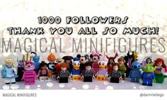 Lego Project 365 March 31st - Thank you so much all 1000+ of you for following me on Instagram! It's lovely to know you are enjoying my photos 😊💖 (090/365) Featuring my entire collection of Lego Minifigures.