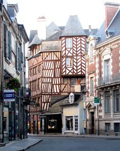 Colombage (half-timber) building in downtown Rennes