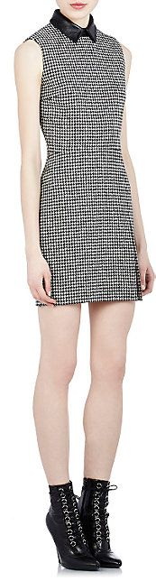 Saint Laurent Houndstooth Sheath Dress - Short - Barneys.com