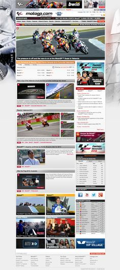 MotoGP Motogp, Valencia, Web Design, Sports, Hs Sports, Sport, Website Designs, Exercise, Site Design