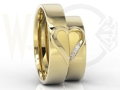 Obrączki ślubne żółtego złota z diamentami / Wedding rings made from yellow gold with a diamonds / 2459 PLN #wedding_rings #gold #jewellery #jewelry #bizuteria #złoto #obraczki_slubne