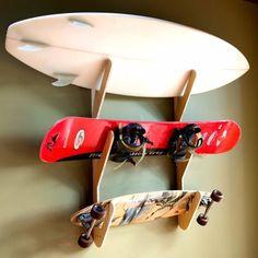 triple wall mount skate board