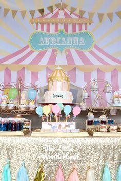 Pastel Carnival Birthday Party via Kara's Party Ideas | KarasPartyIdeas.com (8)