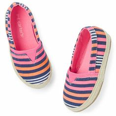 Carter's Striped Slip-On Shoes