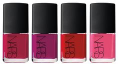 NARS x Guy Bourdin Color Collection for Holiday 2013. Nail Polish. Follow Me (deep fuchsia), No Limits (bright pink violet), Tomorrow's Red (scarlet flame), and Union Libre (Blosso pink).