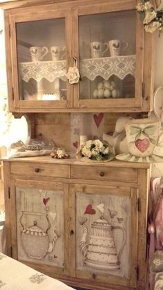 """Great Photos Shabby Chic Kitchen storage Tips By using the idea of """"shabby chic"""" the primary stuff that springtime to mind are generally affected, classic, outda Living Furniture, Kitchen Furniture, Diy Furniture, Vintage Kitchen Decor, Shabby Chic Kitchen, Kitchen Modern, Cottage Chic, Kitchen Storage, Furniture Makeover"""