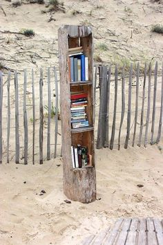 A little library at the beach. I wish I knew where this was! Little Library, Little Free Libraries, Free Library, Library Books, Library Week, Mini Library, Library Ideas, I Love Books, Books To Read