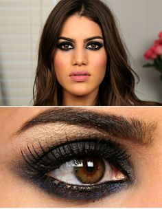 Smokey eyes party make up Heavy Makeup, Makeup For Brown Eyes, Black Makeup, Love Makeup, Makeup Tips, Makeup Looks, Demi Lovato Makeup, Beauty Make Up, Hair Beauty