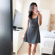 🎉HP🎉 bethany mota black stripes tank dress NWOT, washed but never worn, flowy a line style. No zippers or button, no pockets, stretchy, tag says xs but fits a small nicely. 72% polyester 26% rayon 2% spandex ✂️SALE✂️ final price, Bethany mota Dresses
