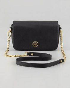 Tory Burch Robinson Mini Chain-Strap Bag, Black - Neiman Marcus