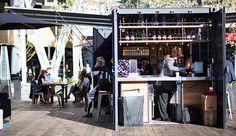 SG Blocks unveils prefab bar and room prototypes for Marriott Moxy Hotels SG Blocks Marriott Moxy Hotels Bar and Room Prototype – Inhabitat - Sustainable Design Innovation, Eco Architecture, Green Building