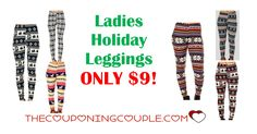 Don't miss out on the Ladies Holiday Leggings for ONLY $9 shipped to your door! Stock up on these comfy leggings for the season!  Click the link below to get all of the details ► http://www.thecouponingcouple.com/ladies-holiday-leggings/ #Coupons #Couponing #CouponCommunity  Visit us at http://www.thecouponingcouple.com for more great posts!