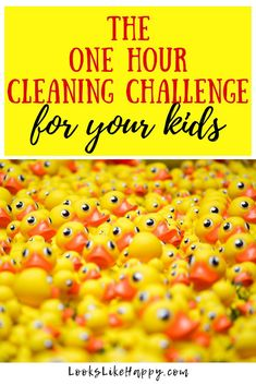 The One Hour Cleaning Challenge - For Your Kids! – Looks Like Happy #cleaning #kids #organize #chores #lifeskills