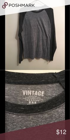 Old Navy Baseball Crew Shirt Light and dark grey long sleeve. Very comfortable. Great condition. Old Navy Shirts Tees - Long Sleeve
