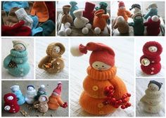 Easy To Make Mittens Doll Decorations - DIY