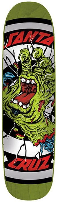 #Skateboard Santa Cruz - Rob Hand Green Deck