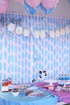 Gender Reveal Party Decorations. #genderreveal #party #baby
