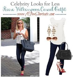 Snag your favorite celebrity fashion looks for less! Check out this Reese Witherspoon Casual Outfit from items purchased at @Kohls!