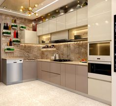 Mr. sunny roy's luxury modern kitchen | kolkata west bengal | cdi custom design interiors pvt. ltd. modern kitchen tiles amber/gold | homify Kitchen Cupboard Designs, Kitchen Room Design, Luxury Kitchen Design, Home Room Design, Interior Design Kitchen, Kitchen Ideas, Modern Kitchen Tiles, Kitchen Modular, Küchen Design