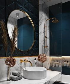 Most up-to-date Photographs Luxury Bathroom interior Concepts Guaranteeing space everyday life approximately the posh visual associated with all of your household Bathroom Design Luxury, Modern Bathroom, Home Interior Design, Luxury Bathrooms, Dream Bathrooms, Elegant Bathroom Decor, Blue Bathrooms, Zen Bathroom, Art Deco Bathroom