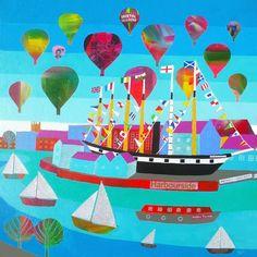 Bristol Harbourside - Giclée Print by Jenny Urquhart