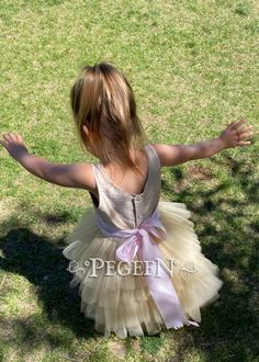 Silk budget flower girl dress Style 1101 Under $100 | Pegeen