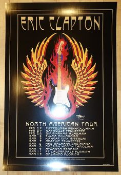 2010 Eric Clapton - North American Tour Concert Poster by Stanley Mouse