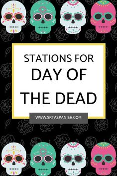 Looking for lesson plans for Día de los Muertos? Check out these printables, crafts, and other activities for Day of the Dead in your middle school or high school Spanish classroom! Middle School Spanish, Elementary Spanish, Spanish Classroom, Art Lessons Elementary, Multicultural Classroom, Spanish Lesson Plans, Spanish Lessons, Spanish 1, Spanish Projects