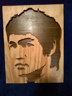 Bruce Lee ON SALE by FaceFullofWood on Etsy Silhouette Tattoos, Silhouette Art, Scroll Pattern, Scroll Saw Patterns, Stencil Art, Stencils, Juggalo Family, Wooden Bar Stools, Wood Burning Art