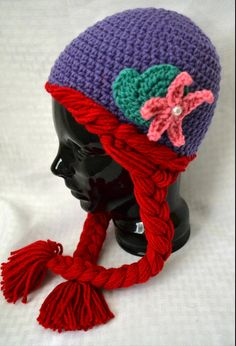 56cab72abea Crochet Ariel Hat Little Mermaid by AJstitching on Etsy