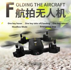 2017 new sky RC toy S-166 2 in 1 WIFI FPV Folding Mini Tumbler Selfie Drone With HD Camera And Full Protection Frame vs XS809W #Affiliate