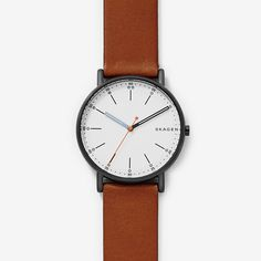 Signatur Brown Leather Watch | SKAGEN® | Free Shipping