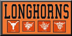 Texas Longhorns Team Wool Blend Fabric Logos Throughout The Years With Team Name & Team Color Double Matting-Awesome & Beautiful Large Picture-Most College Team Banners Available-Plz Go Through Description & Mention In Gift Message If Need A different Team Art and More, Davenport, IA http://www.amazon.com/dp/B00LL7AVVY/ref=cm_sw_r_pi_dp_t7hDub096ZCBR