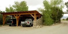 rustic car ports | ... , you can see the carport to your right. The house is straight ahead