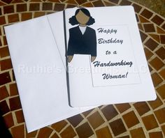 African-American Happy Birthday Card by RuthiesGreetings on Etsy