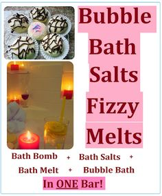 How to Make DIY Bubble Salts Fizzy Melts (Truffles) = Bath Bombs + Bath Salts + Bath Melts + Bubble Bath in ONE Bar! Homemade Cheap and Easy Gift Idea for Saint Valentine's Day, Birthday, Mother's Day or Christmas.
