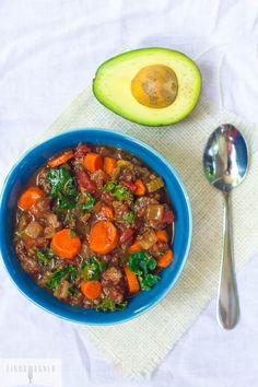 Paleo Bison Chili With Kale