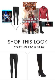 """""""Scarlet Witch"""" by nohealani2003 ❤ liked on Polyvore featuring Rick Owens, Donald J Pliner, Olsen, contestentry and CaptainAmericaCivilWar"""