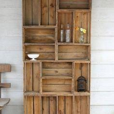 22 Simple Wood Crate DIY Ideas - Snappy Pixels