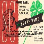 Notre Dame football coaster set-1940's and 1950's. Christmas football gifts! http://www.christmasfootballgifts.com/ Best Christmas football gifts! #47straight #Christmasgifts #gifts