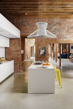 This pendant light brings this funky room together