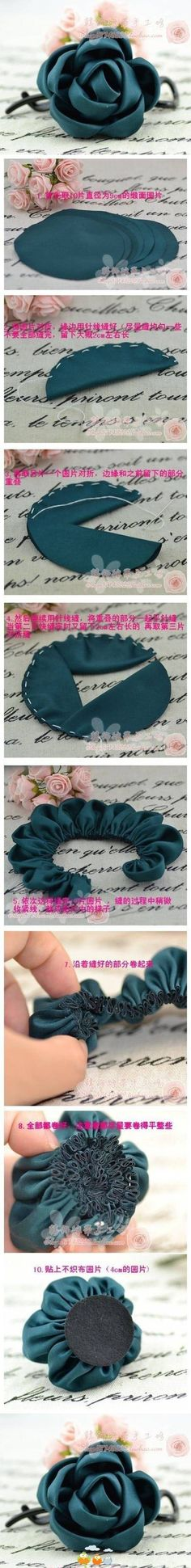 DIY Fabric Rose | | Keywords: diy, crafts, fabric rose, tutorial, how to