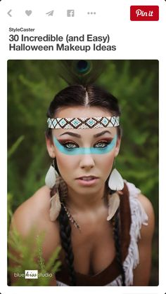Beautiful Indian Halloween costume/makeup idea