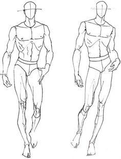 ❤️ Dessins de mannequin femme et homme en mouvement ou en action