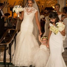 Sexy Lace Mermaid Wedding Dresses Beach High Neck Vintage Wedding Dress Court Train Bridal Gowns Robe De Mariage 2017 Brautkleid