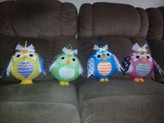 Made these adorable owls for my grand daughter's birthday party. Started with inexpensive paper lanterns added some fun designed card stock and some feathers. They were fun to do.