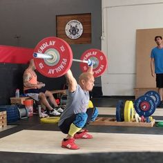 CrossFit Weightlifting Snatch receiving position: You want to remain in connection with the bar the entire lift.