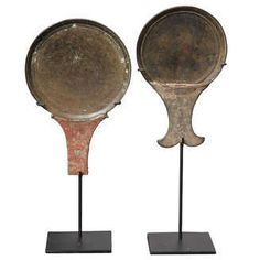 Bronze Mirrors with Handles