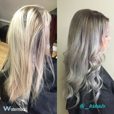 Blonde to silver